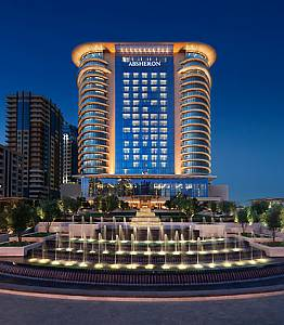 L'hotel Marriot di Baku, sede dell'assemblea