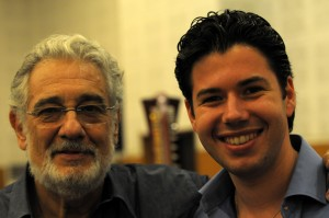 Antonio Poli con Placido Domingo